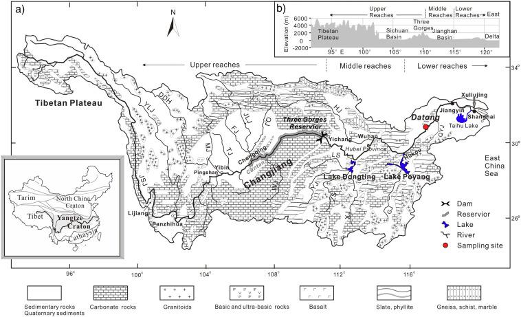 Chang Jiang River Map on