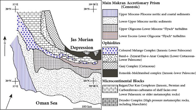 P-T evolution of metapelites from the Bajgan complex in the Makran ...