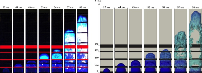 LES of explosions in venting chamber: A test case for