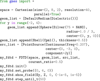 GMES: A Python package for solving Maxwell's equations using