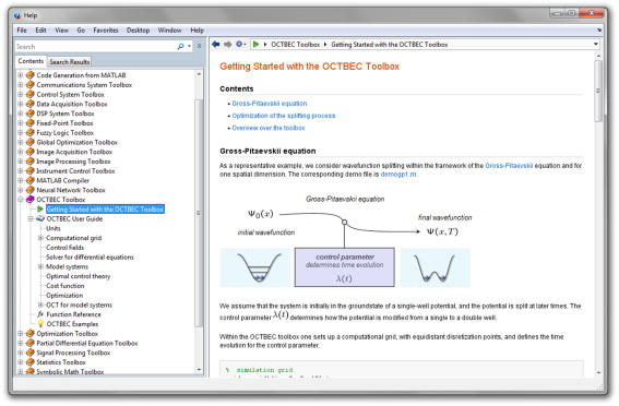 OCTBEC—A Matlab toolbox for optimal quantum control of Bose–Einstein
