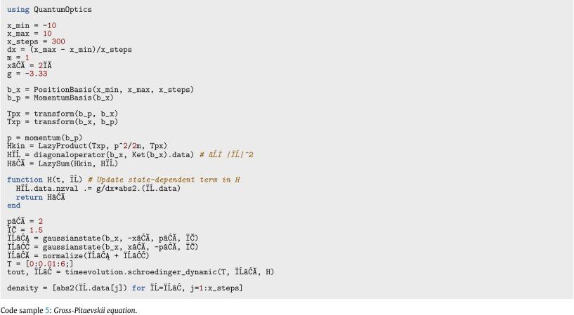 QuantumOptics jl: A Julia framework for simulating open