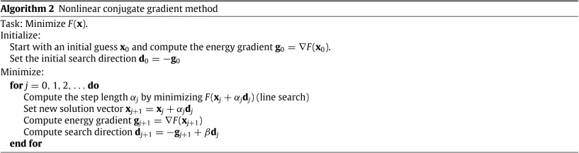 Preconditioned nonlinear conjugate gradient method for