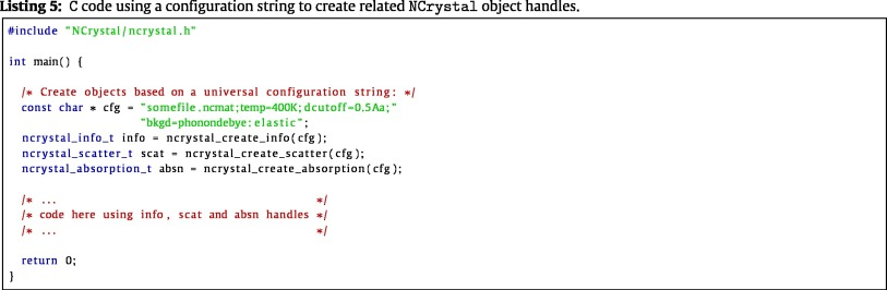 NCrystal: A library for thermal neutron transport
