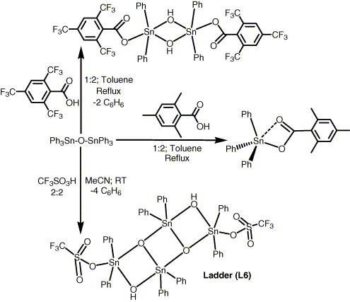 Organooxotin Assemblies From Snc Bond Cleavage Reactions
