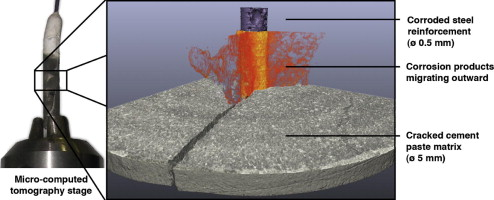 In situ 3D monitoring of corrosion on carbon steel and ferritic