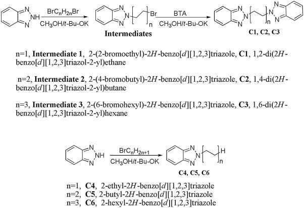 Synthesis of dibenzotriazole derivatives bearing alkylene