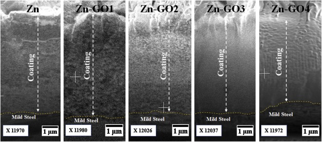 Microstructure and corrosion properties of zinc-graphene oxide