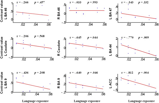 Language exposure induced neuroplasticity in the bilingual