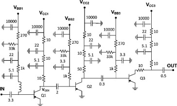 Cryogenic performance of a 3–14 GHz bipolar SiGe low-noise amplifier