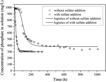Removal of high-concentration phosphate by calcite: Effect