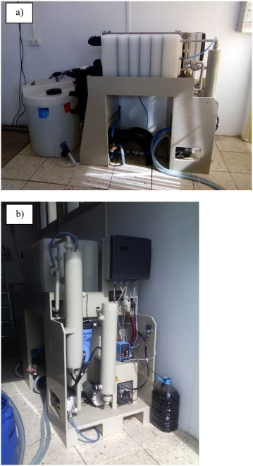 Assessment of a pilot system for seawater desalination based