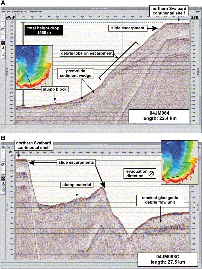 The Hinlopen Slide: A giant, submarine slope failure on the