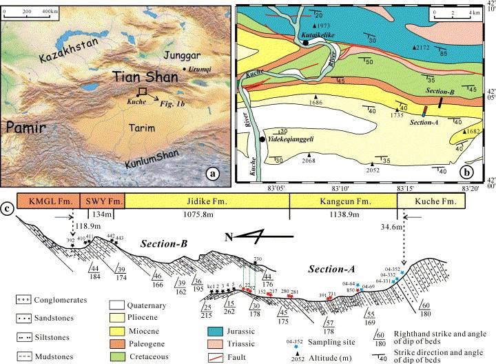 Magnetostratigraphic study of the Kuche Depression, Tarim Basin, and ...
