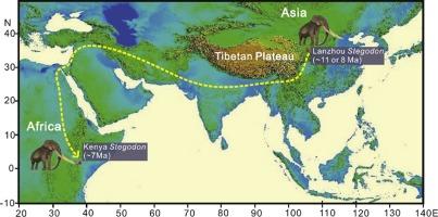 Miocene World Map.New Magnetochronology Of Late Miocene Mammal Fauna Ne Tibetan