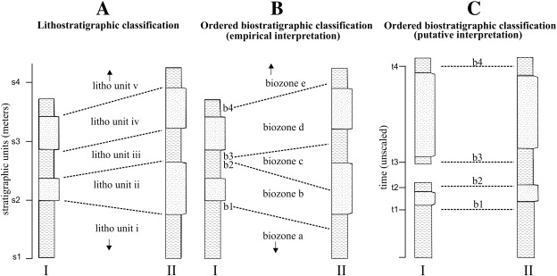 Biostratigraphic dating relies on definition