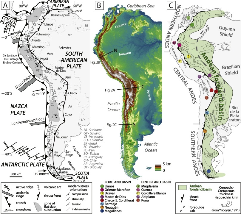 Sedimentary record of Andean mountain building - ScienceDirect