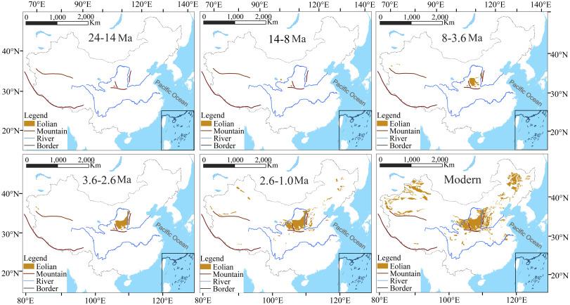 Map Of Asia Gobi Desert.Formation And Evolution Of Gobi Desert In Central And Eastern Asia