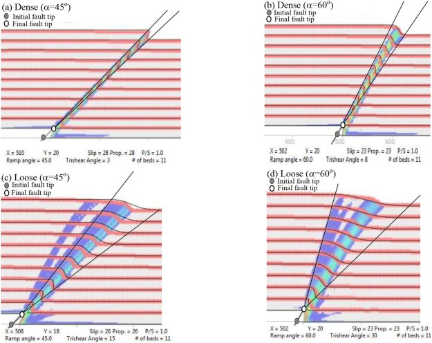 Numerical investigation of dip-slip fault propagation