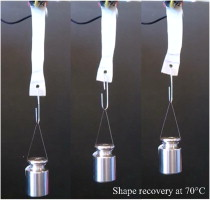 Biocompatible shape memory polymer actuators with high force