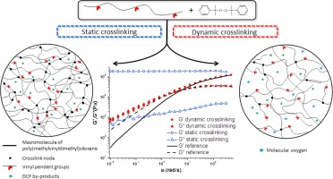 Dynamic crosslinking of silicone elastomer: Radical