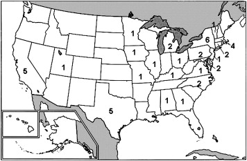 Geographic distribution of reproductive endocrinology and