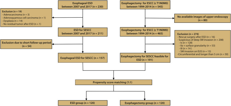 Comparison of endoscopic submucosal dissection and surgery for