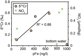 Chromium isotope cycling in the water column and sediments