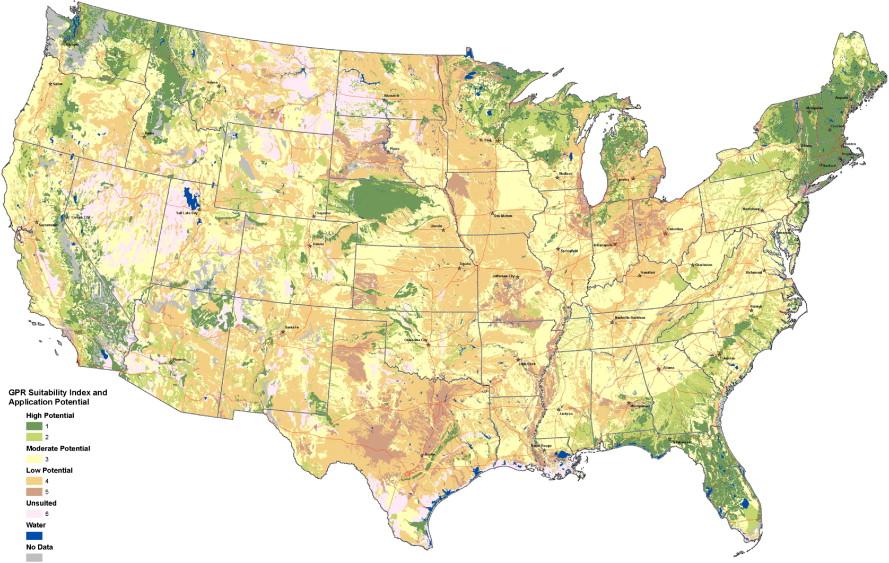 Ground Penetrating Radar Soil Suitability Map Of The Conterminous