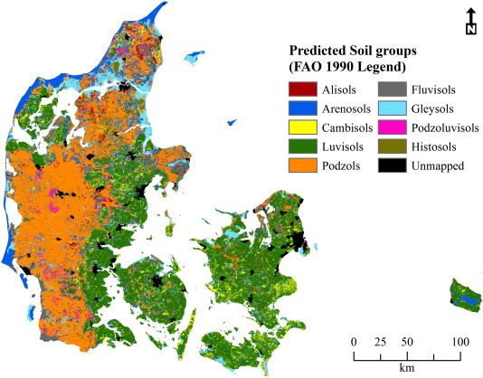Constructing a soil class map of denmark based on the fao legend download full size image gumiabroncs Gallery
