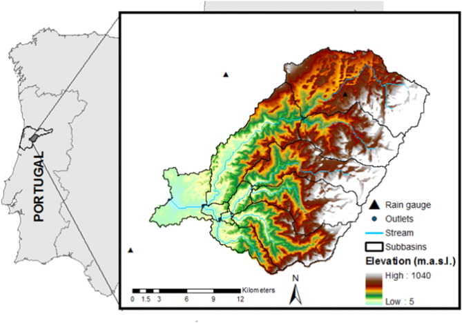 Combining Digital Soil Mapping And Hydrological Modeling In A Data - Portugal elevation map