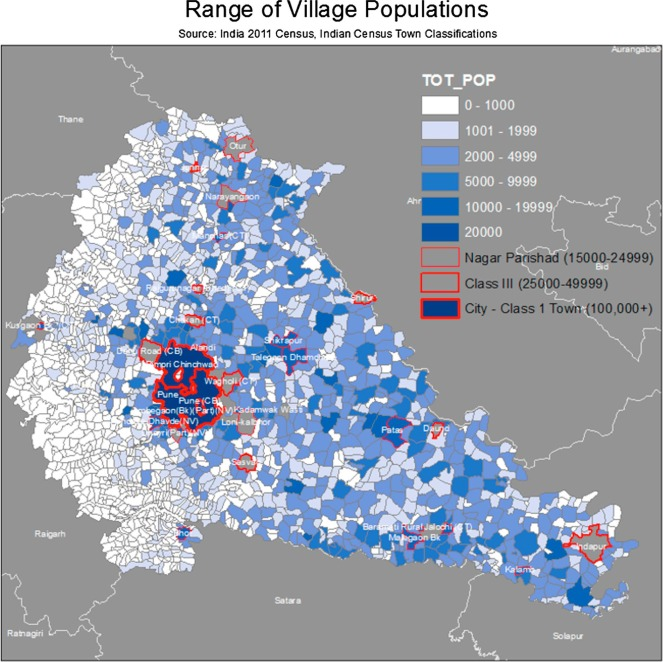 Visualizing peri-urban and rurban water conditions in Pune district