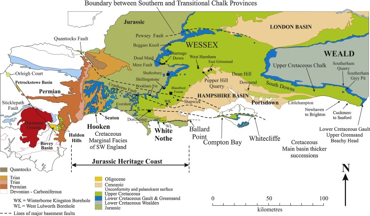Map Of England Jurassic Coast.Late Cretaceous Stratigraphy Sediments And Structure Gems Of The
