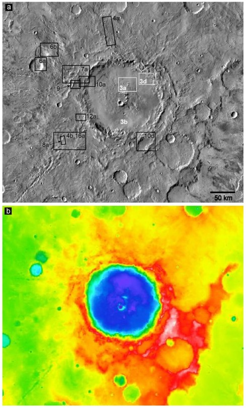 Ejecta deposits of Bakhuysen Crater, Mars - ScienceDirect