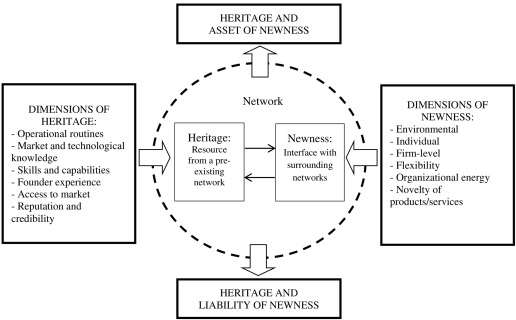 Newness and heritage in business networks: Case analysis of