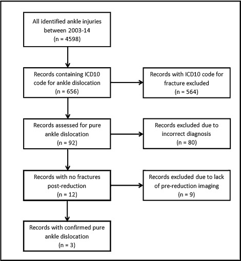 Pure Ankle Dislocation: A systematic review of the literature and  estimation of incidence - ScienceDirect