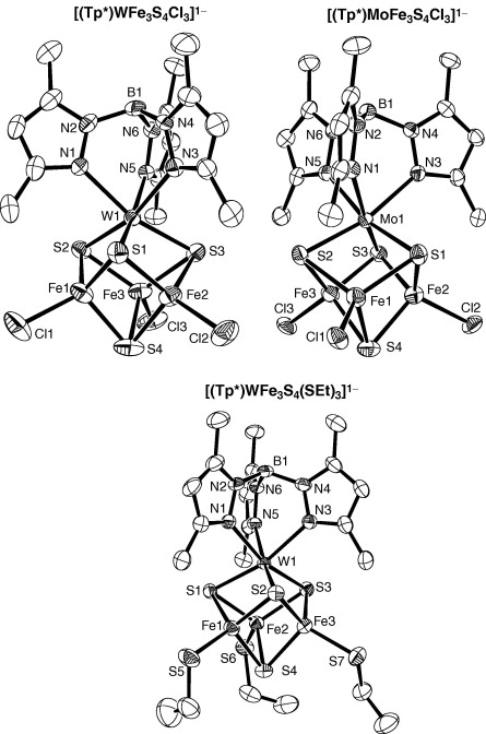 Heterometal Cubane Type Wfe3s4 And Related Clusters Trigonally