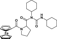 Formation of N-(1-ferrocenoylpyrrolidine-2-carbonyl)-N,N