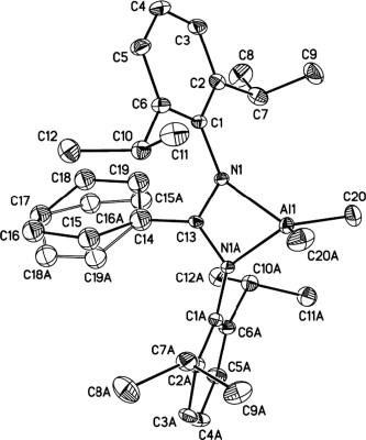 Bimetallic Amidinate Aluminum Methyl Complexes Synthesis Crystal