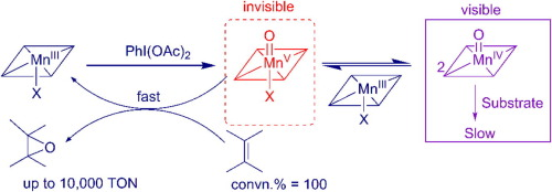 A biomimetic oxidation catalyzed by manganese(III) porphyrins and