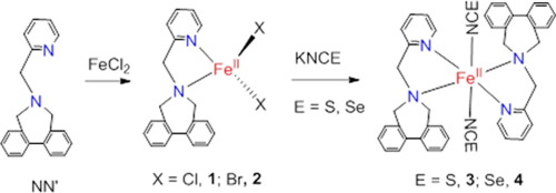 High Spin Iron Ii Complexes Of Halides And Pseudo Halides With Biphenyl Appended N N Bidentate Ligand X Ray Structural And Spectroscopic Studies Sciencedirect