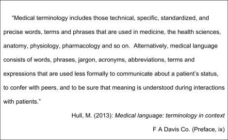 Medical language proficiency: A discussion of