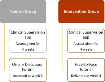 Online learning versus blended learning of clinical supervisee