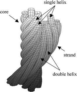 The mechanical behavior of a wire rope with an independent wire ...