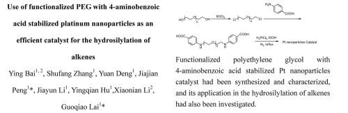 Use of functionalized PEG with 4-aminobenzoic acid