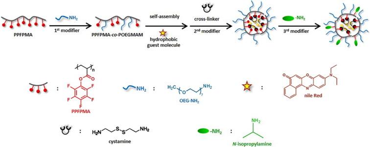 Cascade post-polymerization modification of single