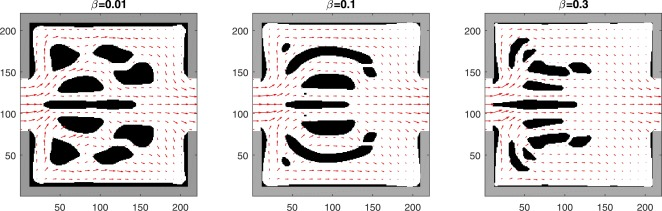 Topology optimization of thermal fluid flows with an adjoint