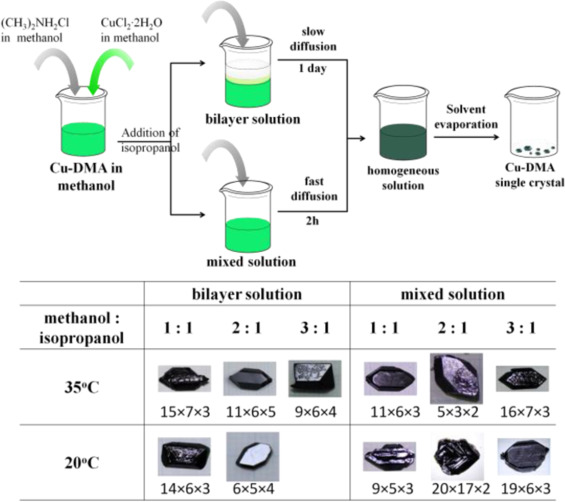 Large-scale single-crystal growth of (CH3)2NH2CuCl3 for