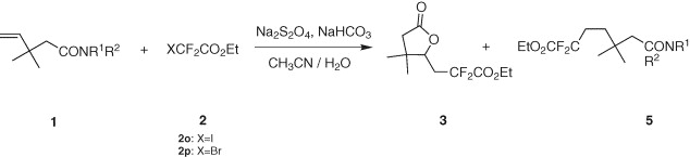 Na2s2o4 Initiated Free Radical Additions Of Polyfluoroalkyl Halides To 4 Pentenamides Sciencedirect