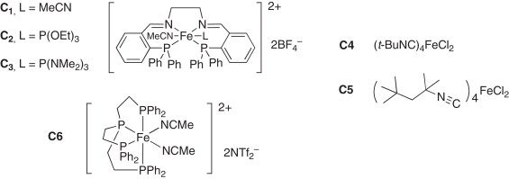 Iron II plexes are suitable catalysts for the isomerization of